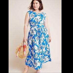 NWT Anthropologie Maeve Kyla Floral Midi Dress 2X